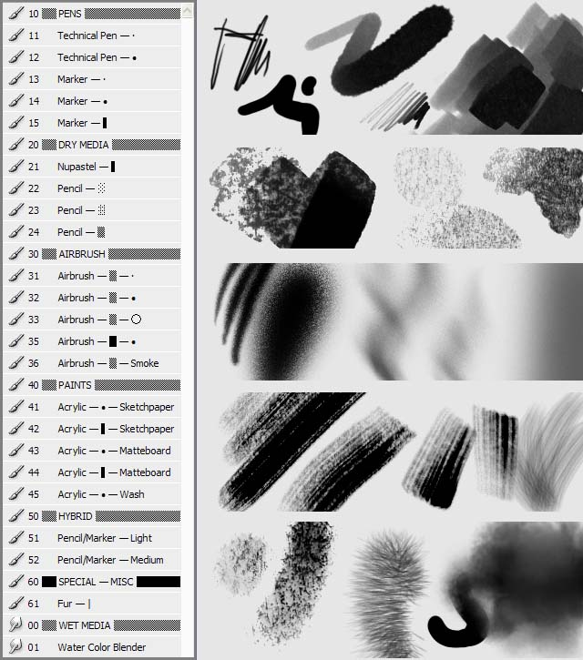The Blog of Glen Moyes: Photoshop Brush and Tool Presets 2009 03